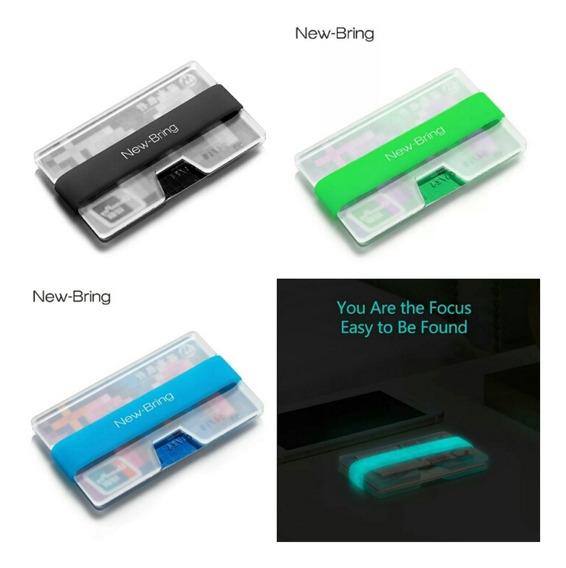 Billetera Cartera Money Clip Transparente Newbring 3 Colores