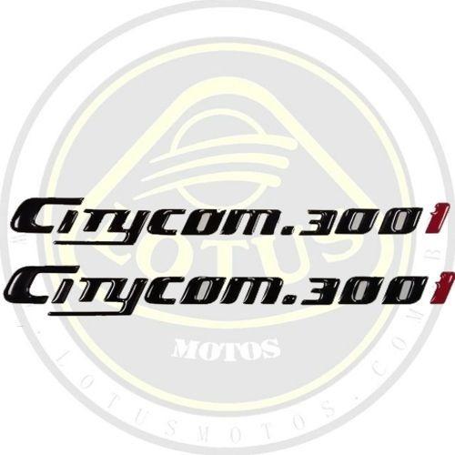 Adesivo Lateral Traseiro Escrita Emblema Citycom 300 Stdf000