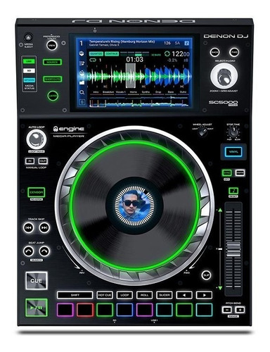 Denon Dj Sc5000 Dj Media Player With 7  Multi-touch Display