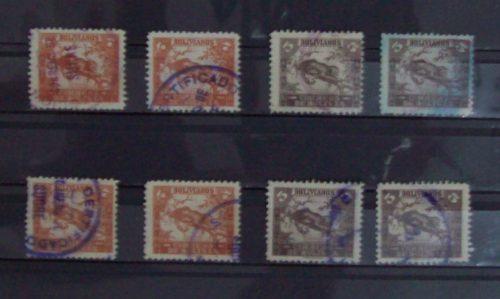 Bolivia, Yv.238+239, Lote De 8 Sellos Usados L0223