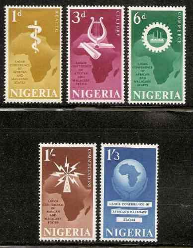 Nigeria Conferencia Estados Africanos Serie Mint Yvert 119/3