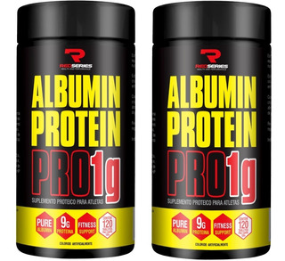 2x Albumina Protein Pro 1g Concentrada - (120 + 120 Tabs)