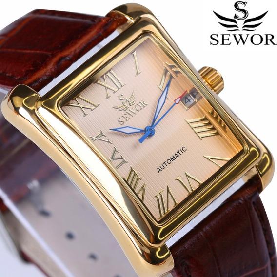 Relógio Masculino De Luxo Automático Sewor Com Calendário