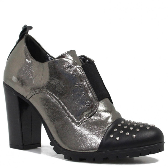 Sapato Feminino Cravo E Canela Oxford Salto 153859