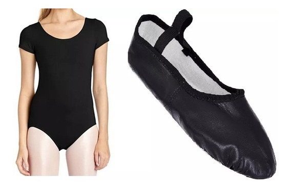 Kit Sapatilha + Collant Capezio Tam 04 Ao 48 Adulto/infatil