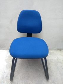 Cadeira Poltrona Escritorio Fixa Secretaria Flexform Plus