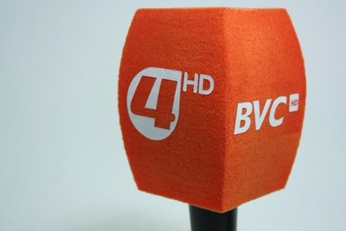 Pack X 2 Capuchon Para Microfono Con Logo Con Envio