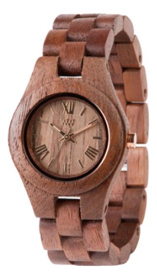 Relógio De Madeira Wewood - Criss Nut - Wwcr05