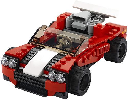 Lego Creator - Coche Deportivo De Juguete 31100, 3 En 1 134p