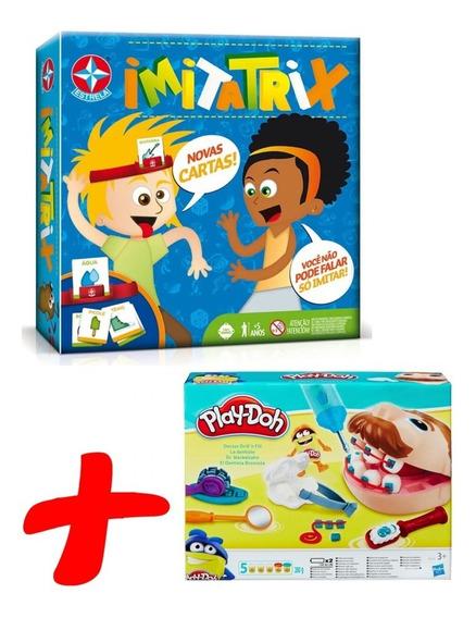 Massinha Play-doh Dentista Hasbro + Jogo Imitatrix Estrela