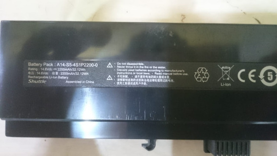Bateria A-14-s5-4s1p2200-0 14,6 Vdc - 2200 Mah/ 32.12 Wh