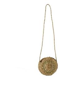 Bolsa Redonda De Taboa Com Botao 21cm