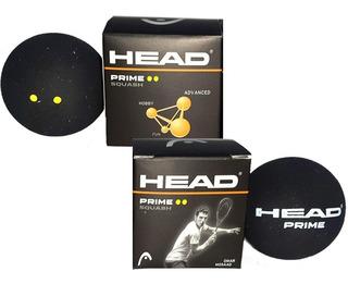 Promo!! Pelota Squash Head Prime 2 Puntos Amarillos Dunlop