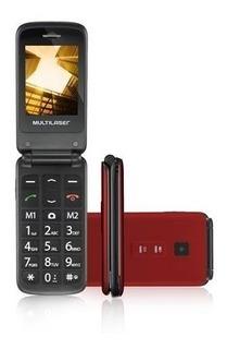 Celular Flip Botões Grandes Sos Bluetooth + Cartão 16gb