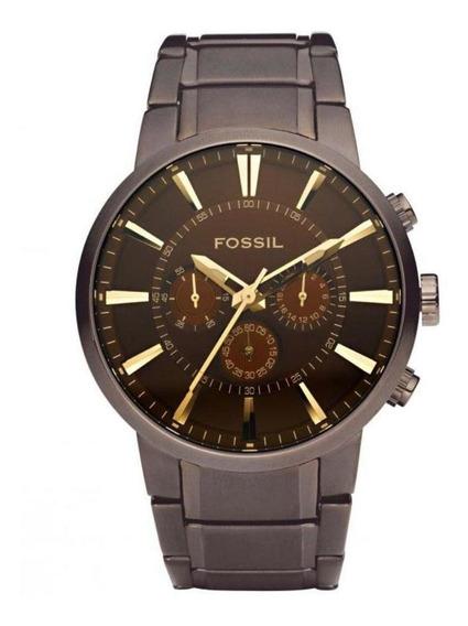 Relógio Fossil Marrom Em Aço Fs4357/1mn