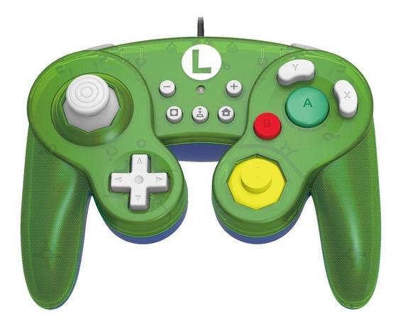 Controle joystick Hori Battle Pad luigi