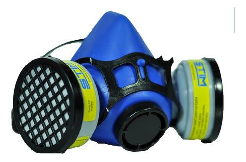 Imagen 1 de 8 de Semimascara Respiratoria Stim + 2 Filtros Para Vapores Organicos, Acidos, Pinturas