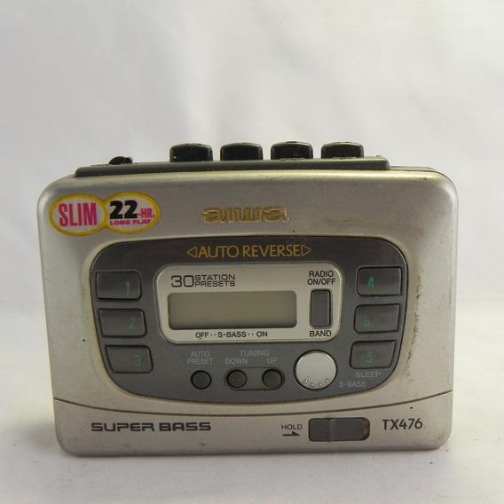 Gravador De Fitas Rádio Am/fm Aiwa Ta163 - C/ Defeito 2