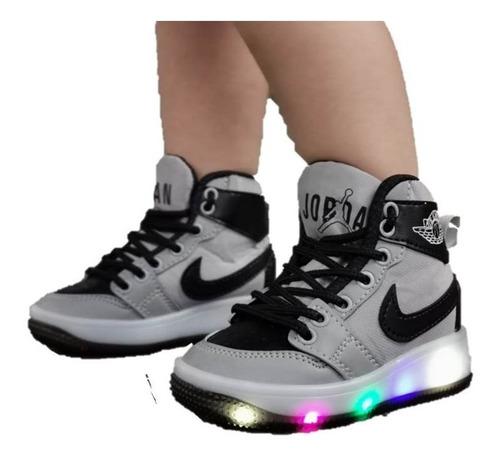Zapatos Botas Deportivos Niño Con Luces Corte Alto