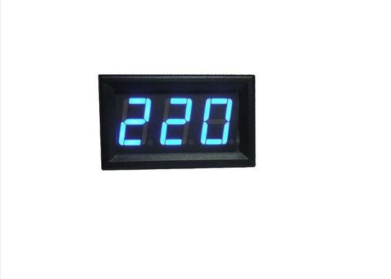 Voltimetro Digital Led Azul Ac Ca 110v 220v 380v