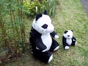 Lindo Urso Panda C/ Filhote Pelucia Gr.