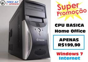 Cpu Desktop P/ Trabalho E Estudo Basico Home Office