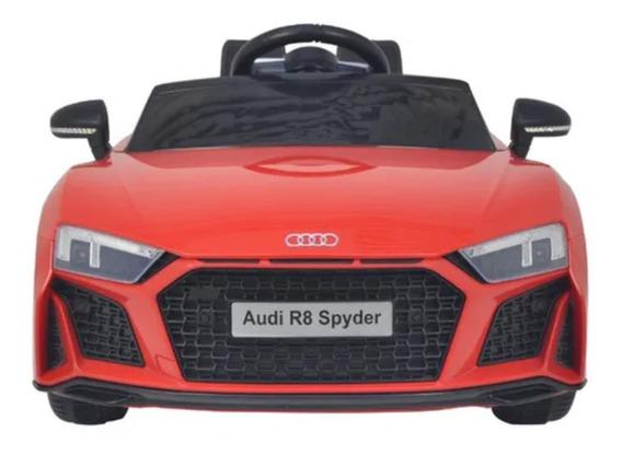Carro Elétrico Infantil Audi R8 Spyder Branco Som Luz Bw123