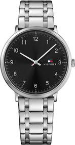 Relógio Tommy Hilfiger Preto Ultrafino Quartzo Aço