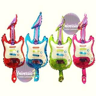 10 Globo Guitarra 44cm Cotillon Combo Souvenirs Candy Bar
