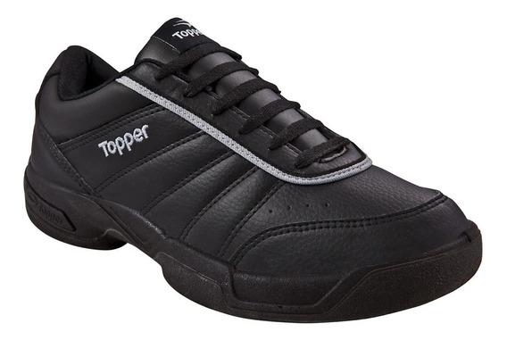 Zapatillas Topper Tie Break Cuero Sintético Original Adulto