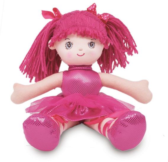 Boneca De Pano Bailarina Glitter Pink Buba