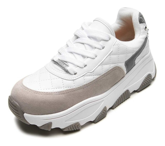 Tênis Feminino Vizzano Chunky Branco Dad Sneaker