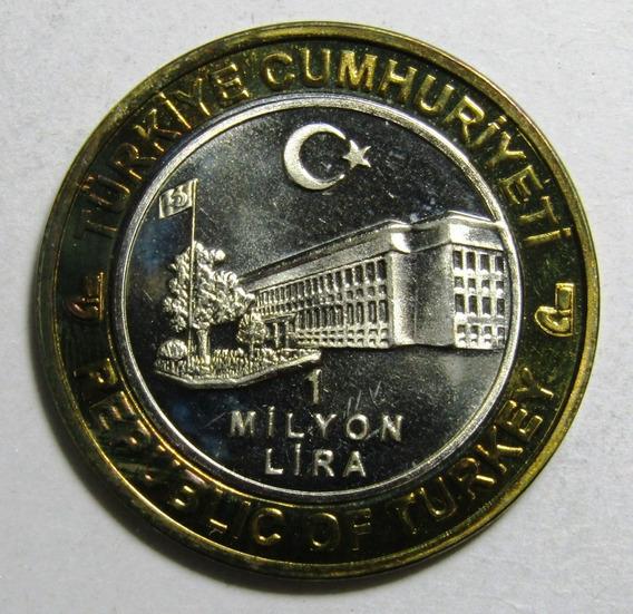 Turquia 1.000.000 Liras Bimetalica 2003 Unc Sin Circular