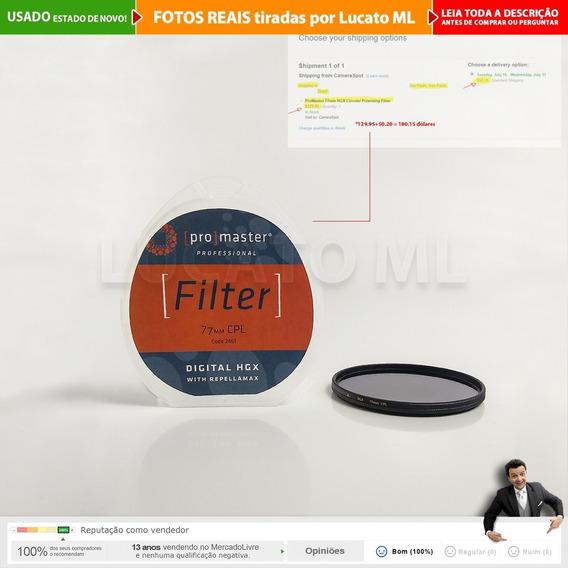 Filtro Cpl Circular Polarizador Pro Master 77mm Hgx | 2a