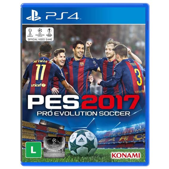 Jogo Pro Evolution Soccer 2017 (pes 2017) Para Playstation 4