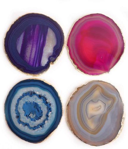 Porta Copos Ágatas Coloridas (10a13 Cm) - 6 Peças