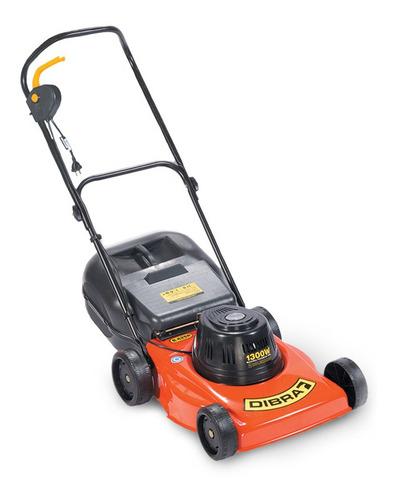 Cortadora de pasto eléctrica Dibra R42SR con bolsa recolectora 1300W naranja y negra 220V