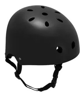 Capacete Coquinho Skate Patins Bike Preto Fosco Atrio Tam G