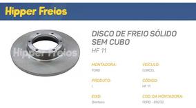 Disco Freio Dianteiro Corcel 1 E 2 75 Á 83 Par Sólido Hf11