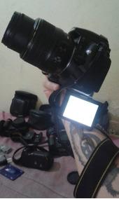Camera D5000 + Lentes + Grip + Baterias Novas