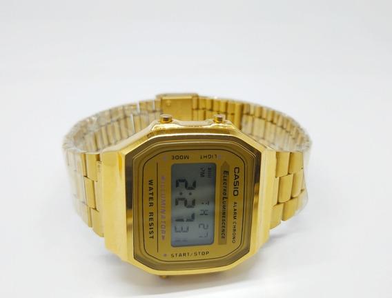 Relógio Casio Dourado Vintage A168 Unissex Retrô Frete Grátis