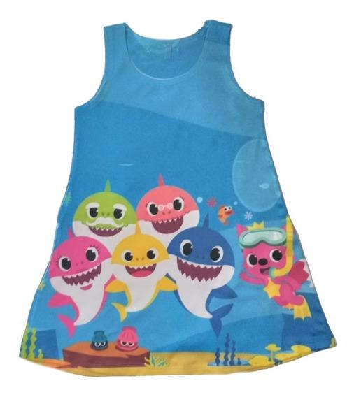 Vestido Infantil Baby Shark Trapézio