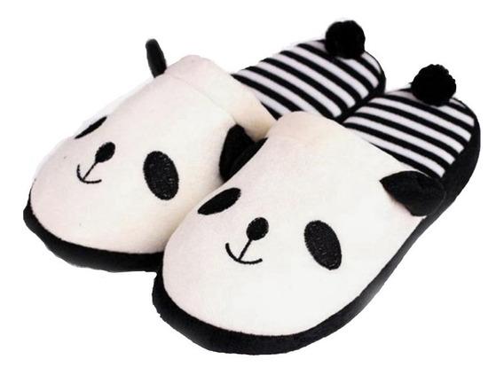 Pantuflas Panda Unisex Cute Kawaii Zapatos Mujer Osito =)