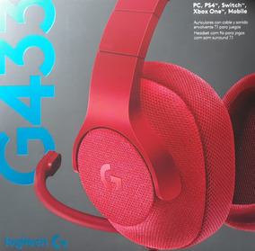 Headset G433 Surround 7.1 P/ Pc, Mobile, Ps4, Xbox, Nintendo