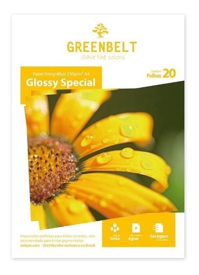 Papel Glossy A4 230g Greenbelt 20 Folhas