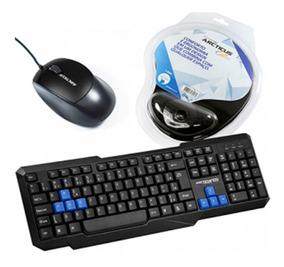 Kit Com Mouse, Teclado E Mouse Pad Preto Arcticus