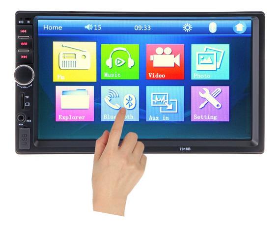 Radio Touch Din Con Camara, Control, Bluetooh, Auxiliar, Usb