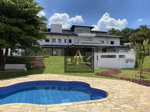 Excelente Casa À Venda No Granja Viana 2, Cotia. 5 Suítes, 9 Vagas, Lindo Jardim E Lazer Completo! - Ca2666