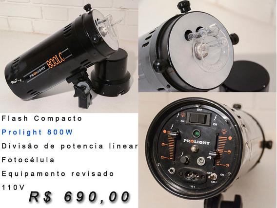 Flash Compacto Prolight 800w - Revisado