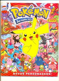 *sll* Álbum - Pokémon 3 Jornada Johto - Incompleto Panini